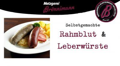 Rahmblut- & Leberwürste