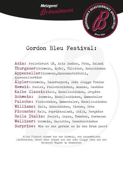 Metzgerei Brönnimann: Cordon Bleu Festival