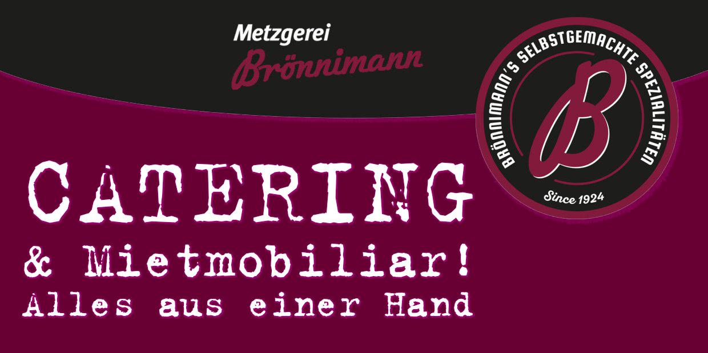 Catering Werbebanner Metzgerei Brönnimann
