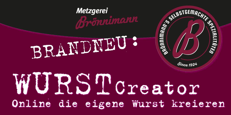 Wurstcreator Werbebanner Metzgerei Brönnimann