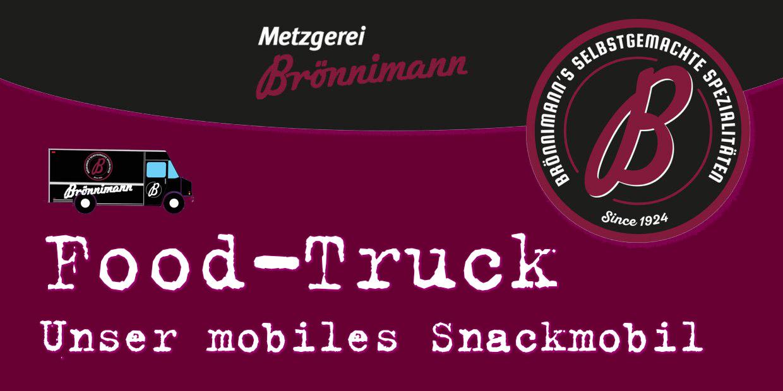 Food-Truck Werbebanner Metzgerei Brönnimann